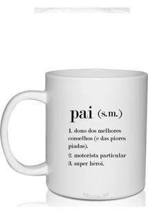 Caneca Branca Personalizada Dia Dos Pais Tema Sign De Pai - Branco - Dafiti