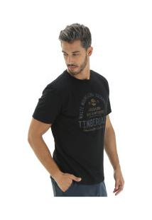 Camiseta Timberland Backpackers - Masculina - Preto