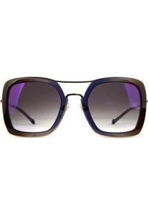 Óculos De Sol Ana Hickmann Feminino - Feminino-Dourado