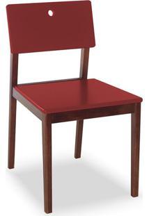 Cadeira Flip I Cacau E Bordô