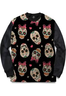 Blusa Bsc Love Skull Full Print - Masculino