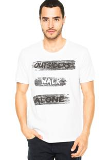 Camiseta M. Officer Walk Alone Branca