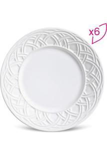 Jogo De Pratos Para Sobremesa Cestino- Branco- 6Pã§S
