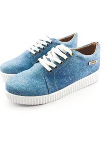 Tênis Creeper Quality Shoes Feminino 007 Jeans 38