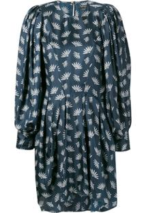 Isabel Marant Wheat Fan Print Dress - Azul