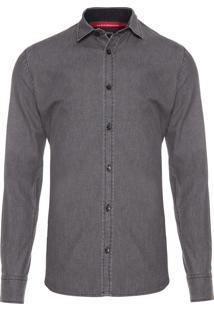 Camisa Masculina Regular Timon - Cinza