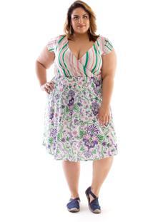 Vestido Plus Size Curto Zuya Napoli
