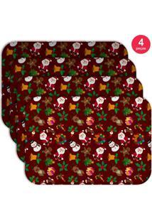 Jogo Americano Wevans Minimalista Vermelho Kit Com 4 Pã§S - Multicolorido - Dafiti