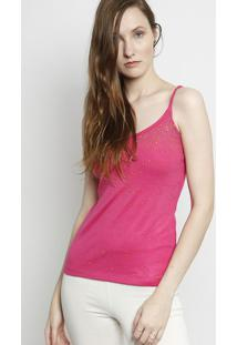 Blusa Canelada Com Termocolantes- Rosa- Moisellemoisele