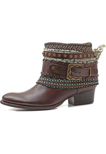 Bota Boho Chic Couro Charlotte Look Sioux Coffee