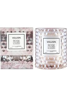 Vela Rose Colored Glasses Roses Collection Redoma Texturizada Geométrica 3D 55 Horas Voluspa