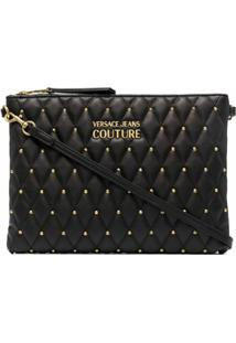 Versace Jeans Couture Studded Quilted Clutch - Preto