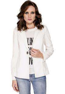Blazer Alfaiataria Alphorria Feminino - Feminino-Off White