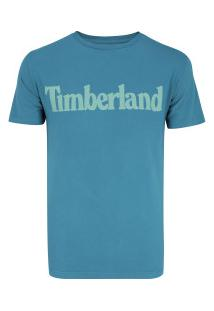 Camiseta Timberland Ss Kennebec Linear Logo - Masculina - Azul