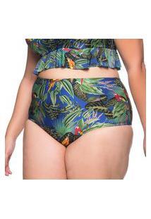 Calcinha Hot Pants Arara Azul Plus Size La Playa 2019