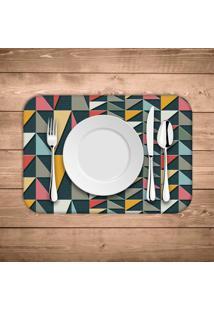 Jogo Americano Wevans Geometric Colors Kit Com 4 Pã§S - Multicolorido - Dafiti