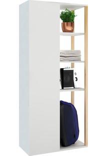 Armário Multiuso 1 Porta Vale Branco - Estilare Móveis