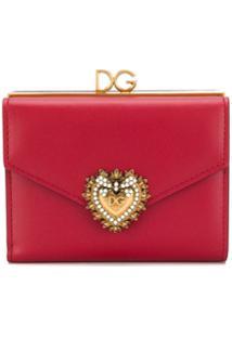 Dolce & Gabbana Carteira Com Aplicação - Vermelho