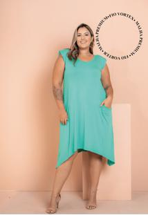 Vestido New Comfy Verde Plus Size