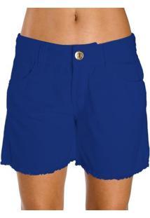 Bermuda Sarja Color Colcci Feminino - Feminino-Azul