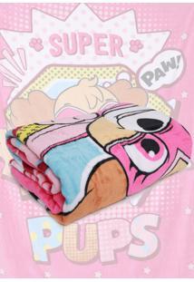 Cobertor Solteiro Lepper Patrulha Canina Menina Pink 1,50 X 2,20 Rosa