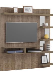Painel Premium Canela Para Tv Até 47 Polegadas, 05 Prateleiras Com Espelhos - Artely