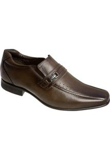Sapato Social Couro Sândalo Portland Masculino - Masculino-Marrom Claro