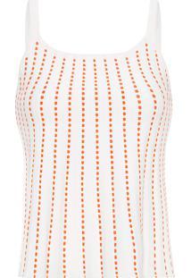 Blusa Feminina Cropped Pesponto Color - Branco