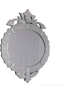Espelho Decorativo Flor Prata - Antonio E Filhos
