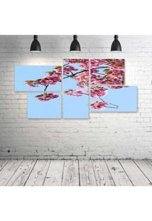 Quadro Decorativo - Blue - Composto De 5 Quadros - Multicolorido - Dafiti