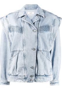 Isabel Marant Étoile Jaqueta Jeans Com Botões Deslocados - Azul