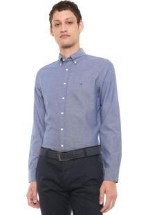 Camisa Tommy Hilfiger Reta Classic Azul