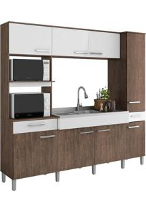 Cozinha Compacta Decibal Essence, 8 Portas, 2 Gavetas - 8012
