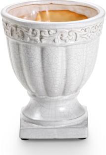 Cachepot Bencafil 117082 Cachepot Taça Branco Craquelado. - Kanui