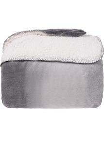 Cobertor King Sherpa Pele De Carneiro E Plush Dupla Face - Gradient