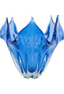 Centro De Mesa De Murano Tips Azul Turquesa