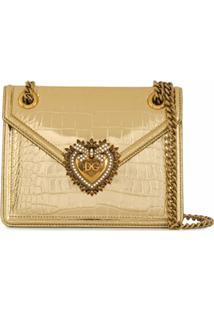 Dolce & Gabbana Bolsa Tote Devotion - Dourado