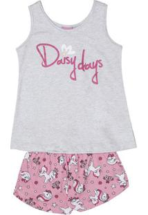 """Short Doll """"Daisy Days""""- Cinza & Rosaevanilda"""