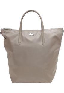 Bolsa Com Tag Frontal - Taupe - 37X39X18Cmlacoste