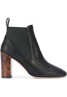 Ps By Paul Smith Ankle Boot De Couro - Preto