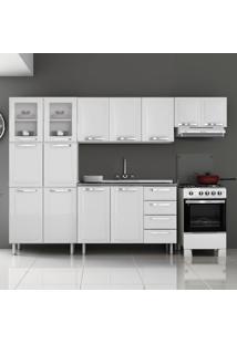 Cozinha De Aço Completa 13 Portas 2 De Vidro Itanew Branco - Itatiaia
