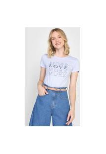 Camiseta Gap More Love Azul