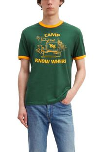 Camiseta Levis Camp Know Where Ringer Stranger Things - S