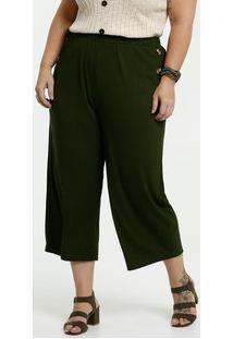 Calça Feminina Pantacourt Botão Plus Size Marisa