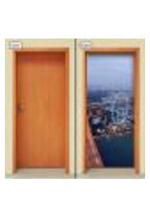 Adesivo Decorativo De Porta - Cidade - 1108Cnpt