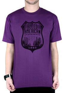 Camiseta Bleed American Route 66 Roxo