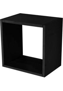 Nicho Quadrado Decorativo 31X31X15 Preto Fosco - Lyam Decor