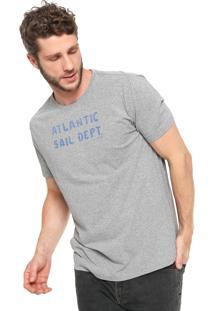 Camiseta Richards Lettering Atlantic Cinza
