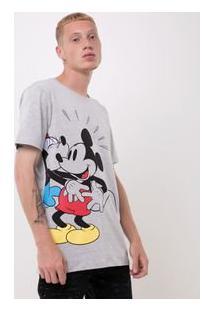 Camiseta Com Estampa Mickey