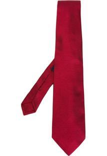 Etro Gravata Listrada De Seda - Vermelho